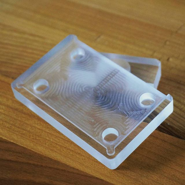 A beautiful cooling assembly bracket - milled out of an STL file on a qBot MINImill #minimilled #MINImill #qbot #startup #instatech #technology #techie #stl #3dprinter #cnc #hack #gadget #geek #austria #makersgonnamake #maker #diycnc #diy #software #awesometechnology #3dprinting #diycnc