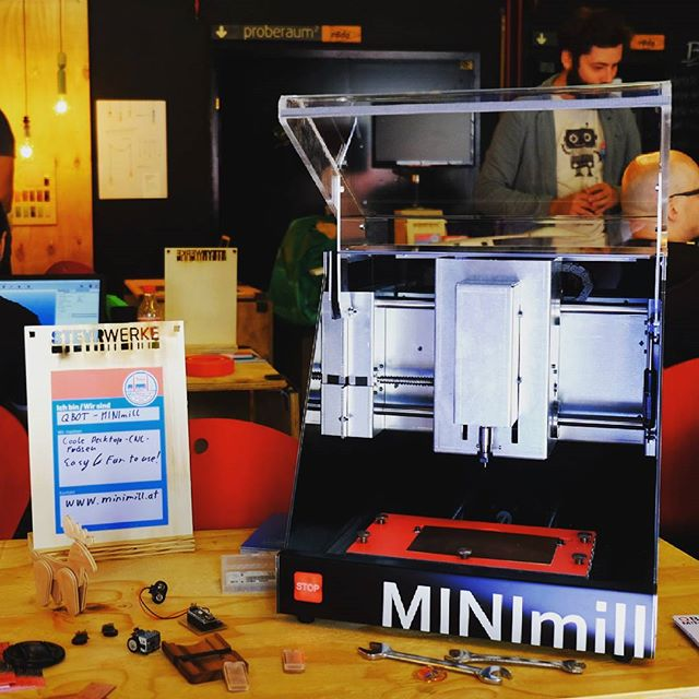 Visit the qBot MINImill at the Mini Maker Faire Steyr #minimilled #MINImill #qbot #startup #instalab #instatech #technology #makersgonnamake #makersmovement #maker #diycnc #diy #software #awesometechnology #3dprinter #makerfaire #pcbmilling #pcbmill #printedcircuitboards #grbl