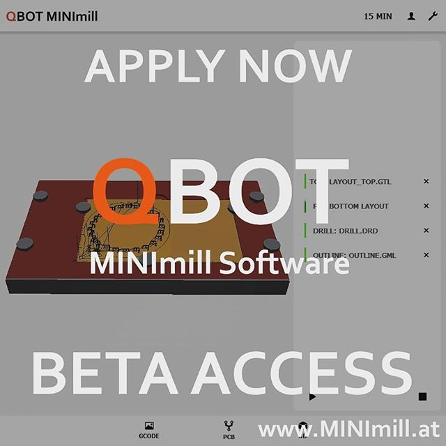 MINImill CAD - CAM - MILL Software - BETA Testing of our awesome MINImill Software starts at the beginning of 2018. Load and automatically convert .gerber, .dxf and .stl files for your GRBL milling machine. Follow us on Instagram, Facebook, Youtube or visit www.MINImill.at regularly to get the newest updates.Our MINImill Software will be free to use for all DIY enthusiasts, makers and educators#minimill #qbot #grbl #pcbmilling #pcbmill #prototyping #software #diycnc #diy #instatech #geek #cnc #electronics #education #manufacturing #makersgonnamake #techie #technology #cncmachining #cncmilling #cncmill #startup #hack #makersmovement