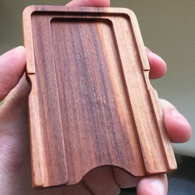 One customer milled a beautiful wallet on one of our MINImill's - thanks for the submission #nobitcoinwallet #realmoney #qbot #minimill #manufacturing #wood #cnc #grbl #cncmilling #cnc #realmaterials #stl #3dmilling #software #startup