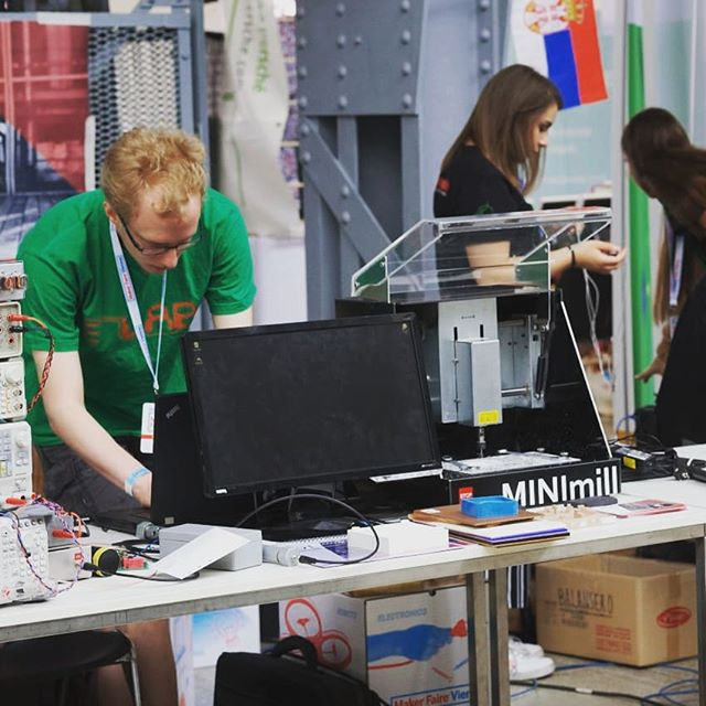 See you at the Makerfaire Vienna. Thanks at the E-Lab from the TU Graz for presenting our milling machine there #makerfaire #maker #qbot #minimill