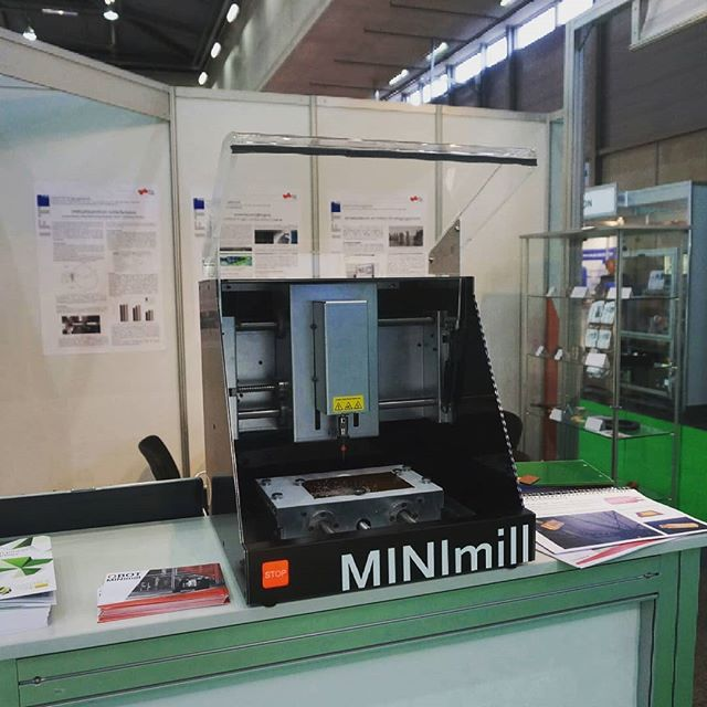 The qBot MINImill is at the Intertool - a big thank you to the Institute of Production Engineering of the TU Graz for presenting our MINImill there #qbot #minimill #intertool #smartautomation #exhibit #cnc #cncmilling