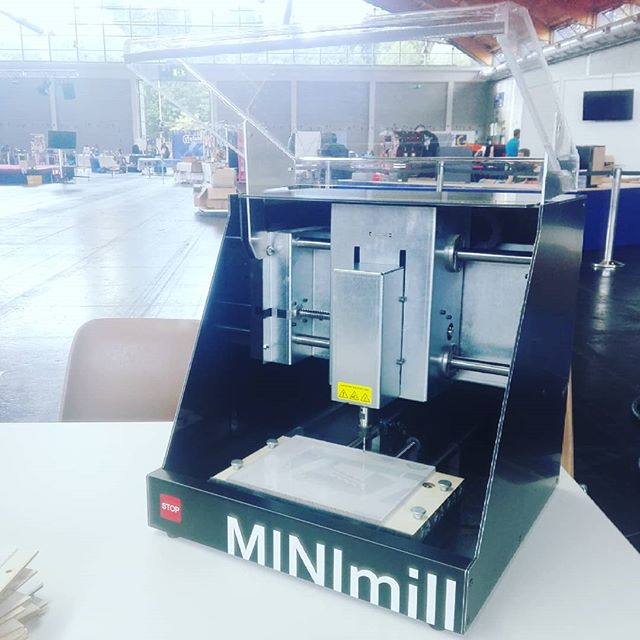 The MINImill is at the Makerfaire Bodensee - see you there #minimill #makerfaire #maker #qbot #grbl