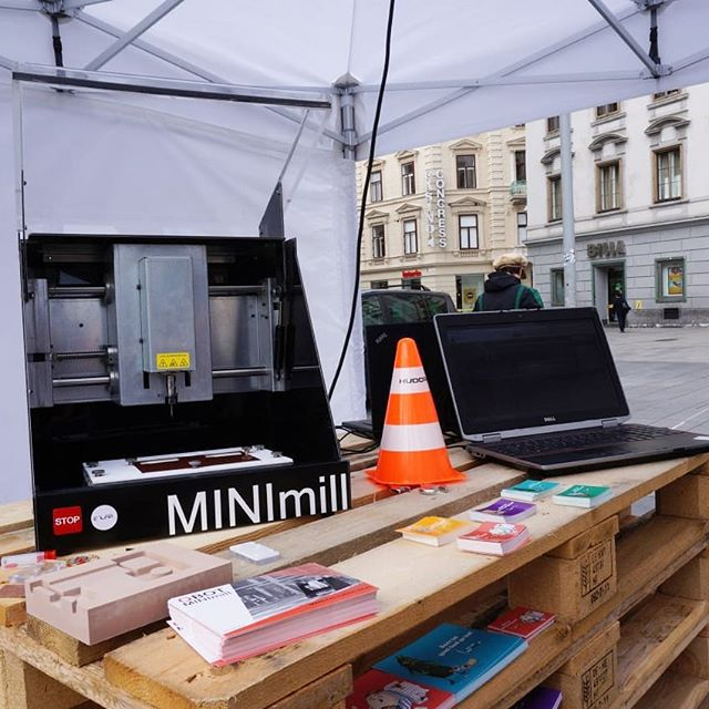 Come and visit us at the Streettech Day of the TU Graz #tugraz #streettechday #elab #qbot #minimill