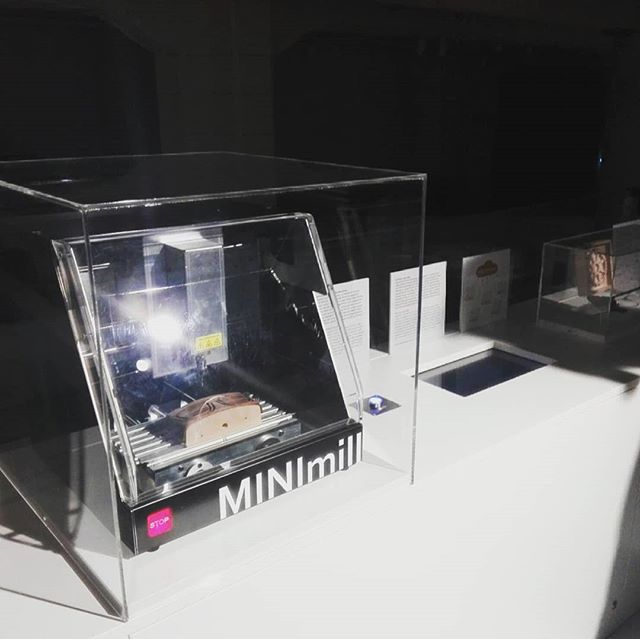 Tonight we are visiting our QBOT MINImill at the exhibition of the Technichal Museum of Vienna #visitusthere #soproud #qbot #minimill