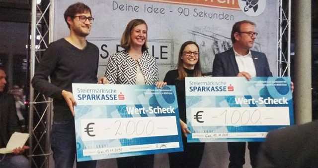 We took part in the JW Elevator Pitch. We reached the amazing second place! Thank you all for your support #startuplife #elevatorpitch #jungewirtschaft #scienceparkgraz