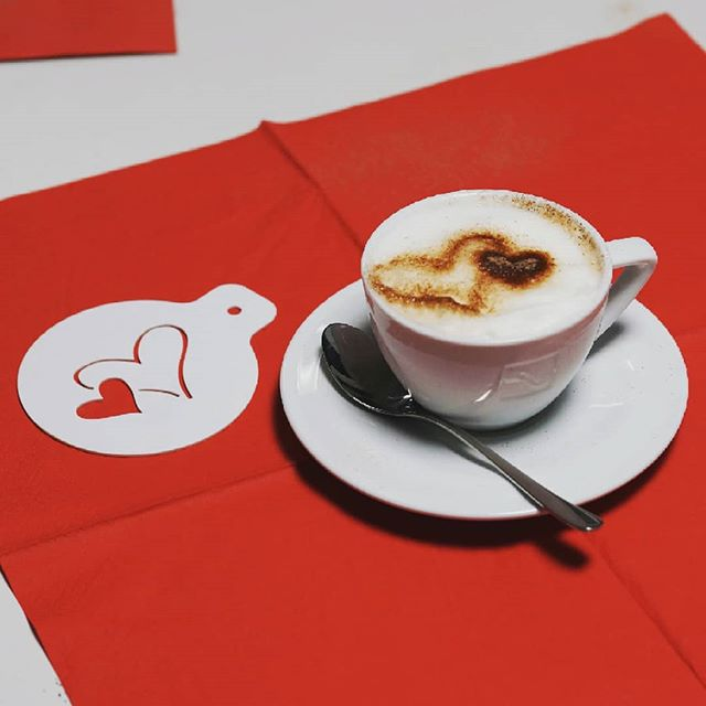Making beautiful presents for your loved ones is easy with the QBOT MINImill KIT - we made this heart shaped coffee stencil for Valentine's Day on our milling machine #valentinesday #qbot #MINImillKIT #portalcnc #grbl #maket #coffeestencil #diycnc #diy #maker
