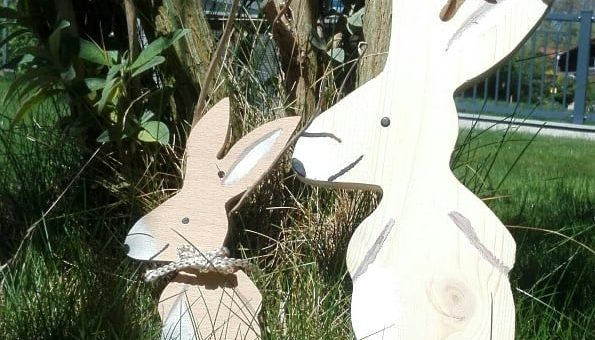 Happy Easter! We milled those beautiful Easter Bunnies on our qBot MINImill KIT starting at 990€ – www.minimill.at #easter #diycnc #grbl #maker #cnc #millingmachine #woodworking