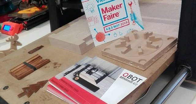 The qBot MINImill is at the Makerfaire Vienna – come and visit us at the booth of the Elab (E58)