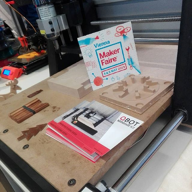The qBot MINImill is at the Makerfaire Vienna - come and visit us at the booth of the Elab (E58)