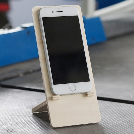 We milled a beautiful iPhone holder on our MINImill KIT out of a DXF file #woodworking #cnc #gadget #diy #workshop